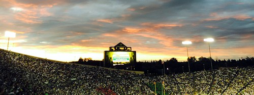 autzenstadium southdakotauniversity oregon oregonducks eugene football sunset clouds sky 2014 universityoforegon aviary cropped 500views