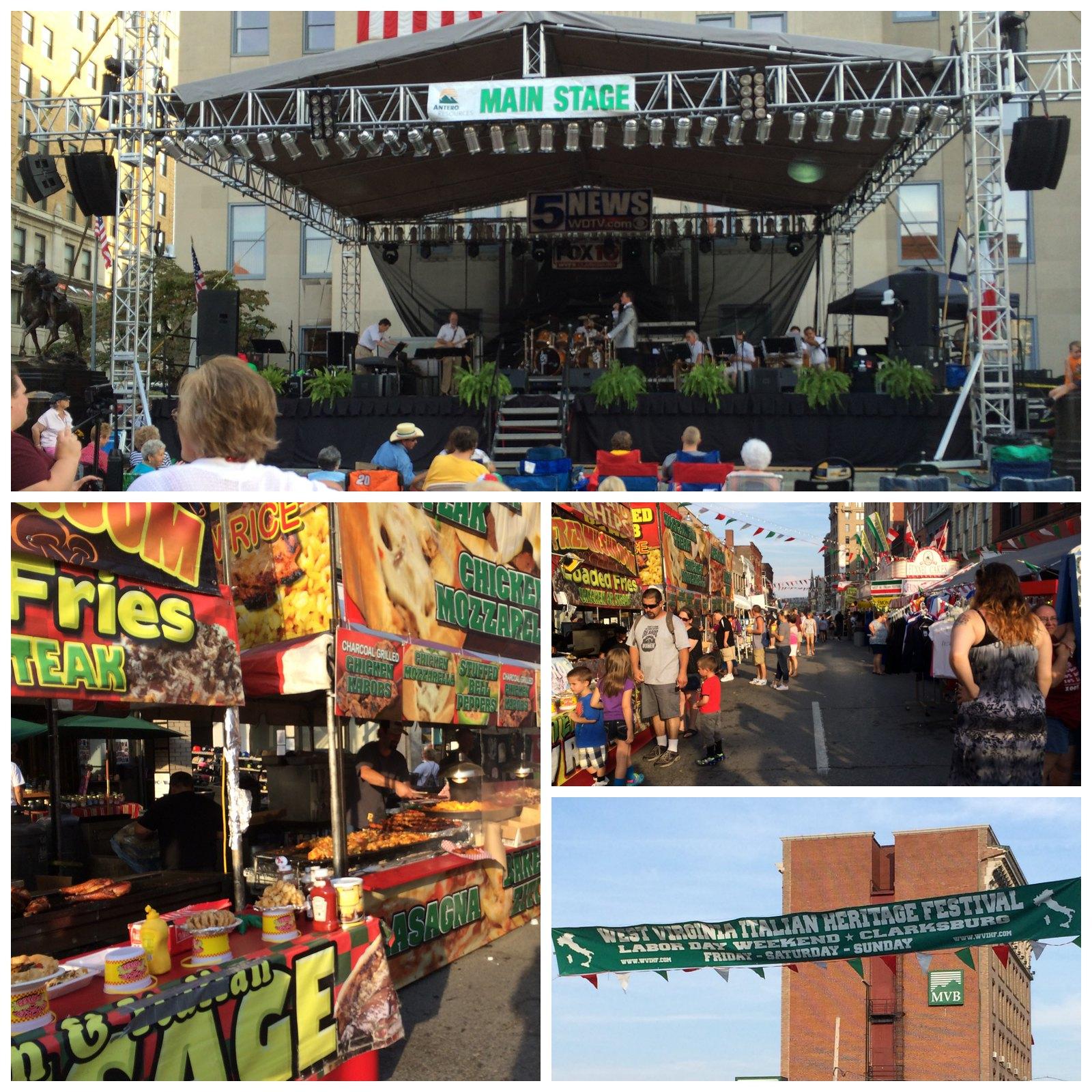 Clarksburg Italian Festival Collage