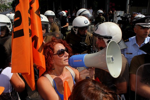 Protests during PM's visit to 79th Thessaloniki International Trade fair - Greece