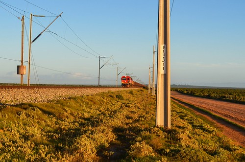 Iron ore train on the Sishen-Saldanha railway, South Africa