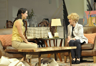 Meredith Forlenza and Julia Duffy in the Huntington Theatre Company production of Todd Kreidler's compelling family comedy GUESS WHO'S COMING TO DINNER directed by David Esbjornson, playing Sept. 5 – Oct. 5, 2014 at the Avenue of the Arts / BU Theatre. Photo: Paul Marotta