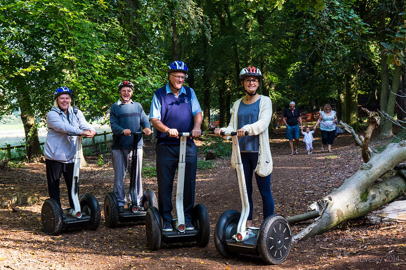 One of the new Segway tours of Upton Country Park