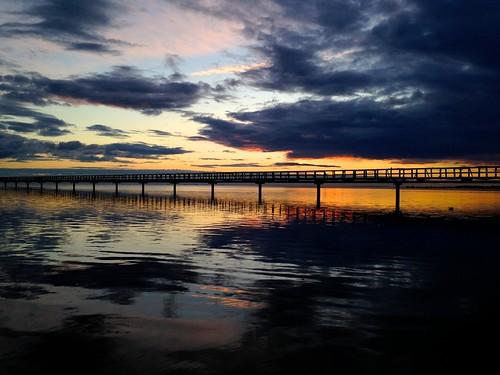 sunset sky clouds pier sweden bryggan skåne fav10 bjärred långa