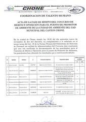 Actas Concursos de Mérito y oposición