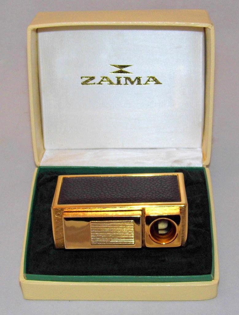 Vintage Zaima Piezoelectric Table Butane Cigarette Lighter, Consort Model, Made in Japan
