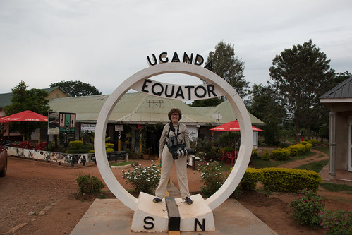Laura at the Equator in Uganda