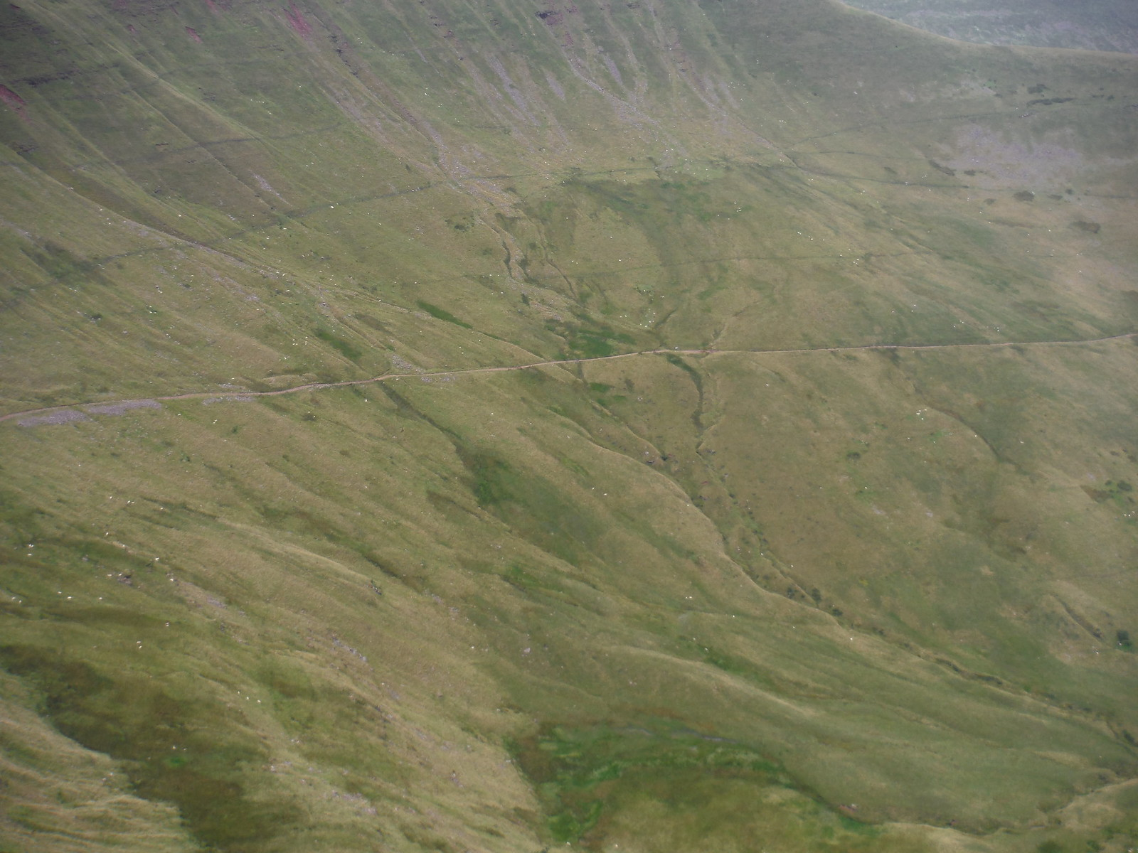 The 'Old Roman Road' along Bryn Teg, from Fan y Big SWC Walk 278 Breacon Beacons Horseshoe - Bannau Brycheiniog