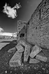 Ballymoon Castle sexy rubble B&W BW