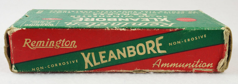 RD14567 Vintage Remington KLEANBORE 30-30 Express 150 gr. Soft Point SMOKELESS Ammo Box & 20 Brass Casings DSC06987