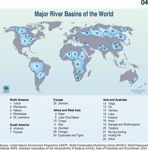 Major river basins of the world grid arendal major river basins of the world gumiabroncs Choice Image