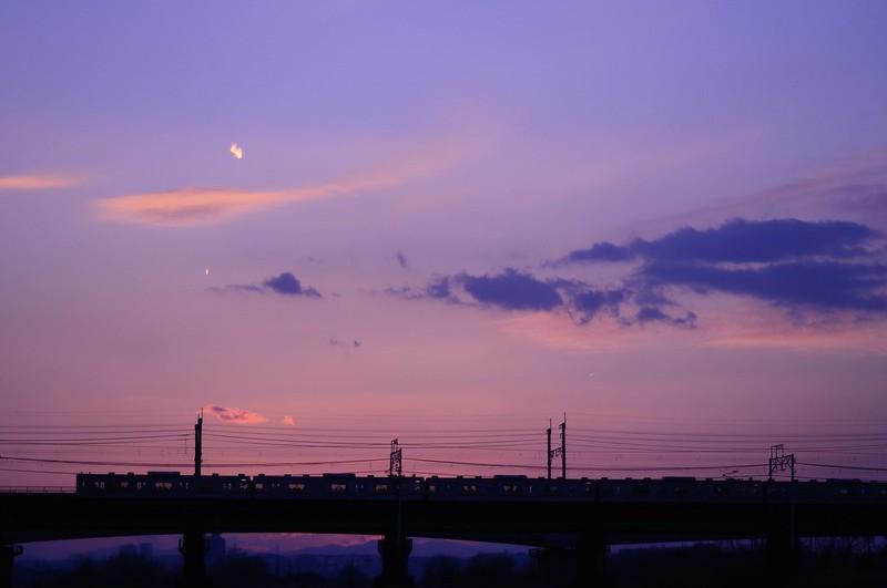 Evening sky in Tokyo