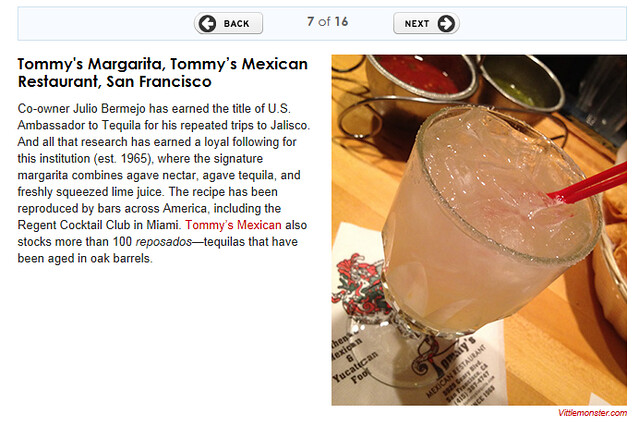 Travel and Leisure margaritas