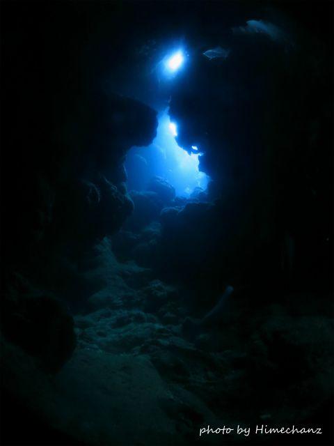 洞窟の中は幻想的でした♪