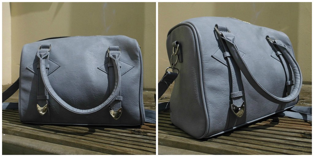 Primark grey blue box bag