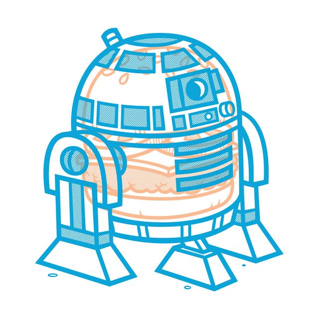 Cheeseburger R2-D2