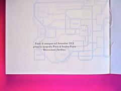 A Vinci, [...], di Morten Søndergaard. Del Vecchio edizioni 2013. Art direction, cover, logo: IFIX. pagina dello stampatore / carta di guardia: pag. 264 (part.), 1
