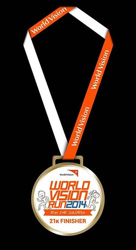 World Vision Run 2014 finisher medal