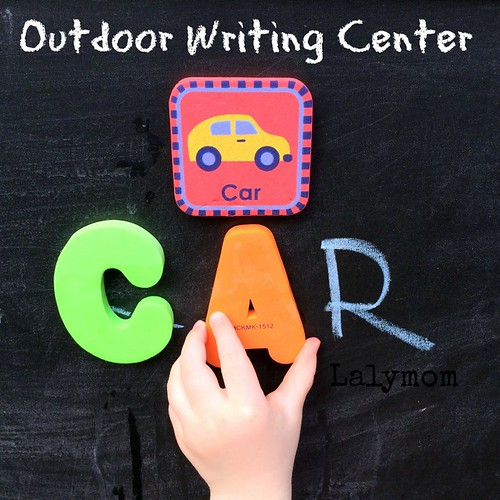 Outdoor Writing Center (Photo from Lalymom)
