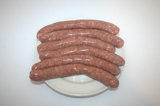 01 - Zutat grobe Bratwurst / Ingredient raw frying sausage