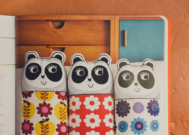 pandas from fun with fabric by jane foster