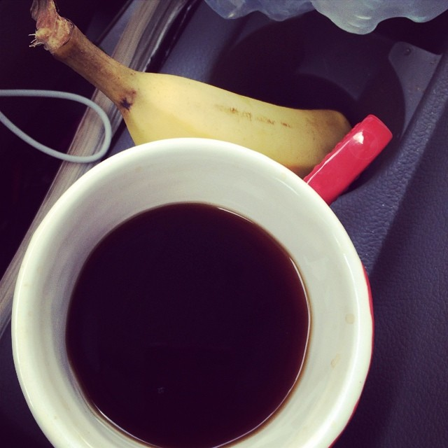 Day 26, #whole30 - breakfast (banana & coffee)