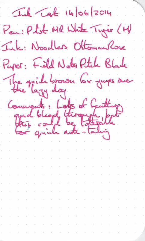 Noodler's Ottoman Rose - Field Notes (Rescan)