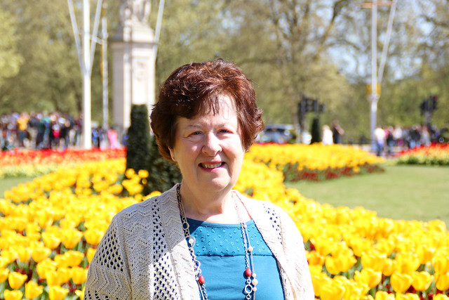 Mom at Buckingham Palace
