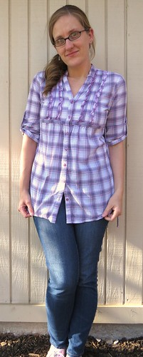 Plaid-Back Tee - Before