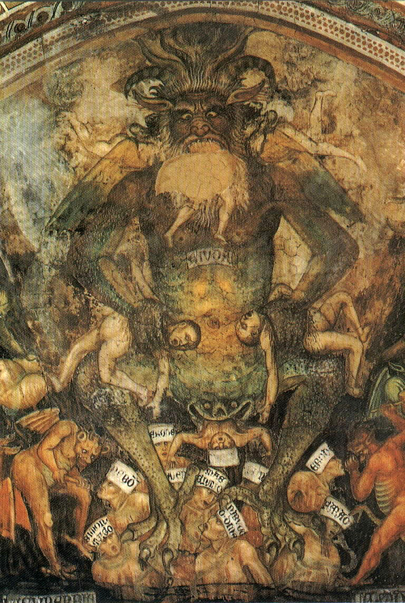 Taddeo di Bartolo - The Last Judgment  (detail of the Leviathan) c.1394