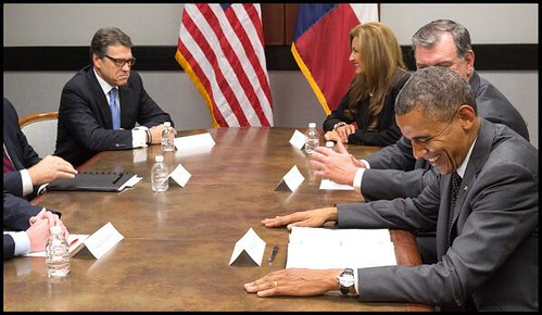 Obama Laughs Perry pouts