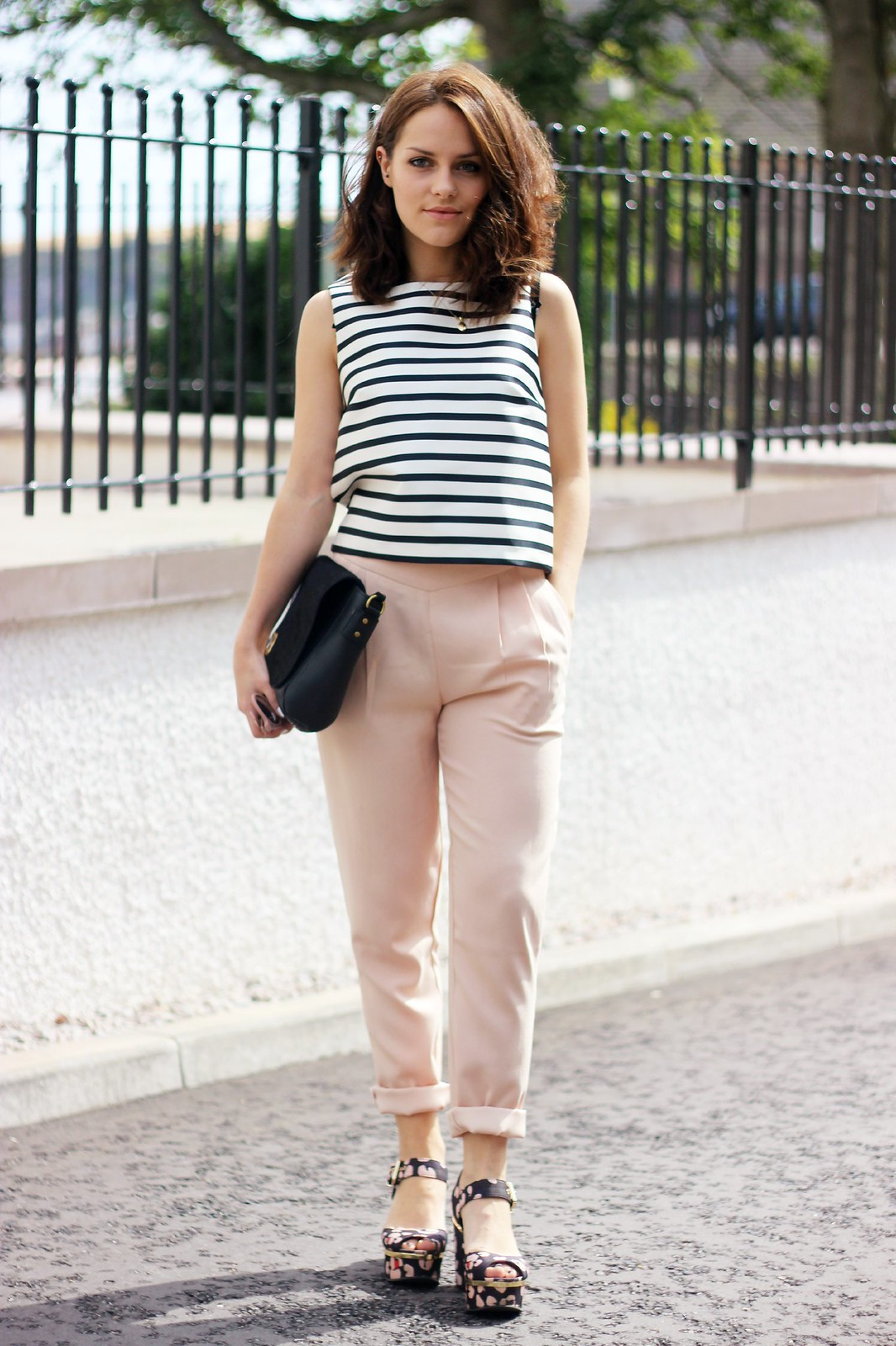 Missguided pink Marilyn trousers