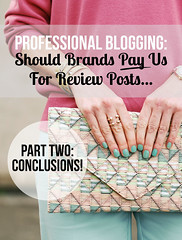 Professional Blogging: Should Brands Pay Bloggers For Product Reviews - Part Two: Conclusions