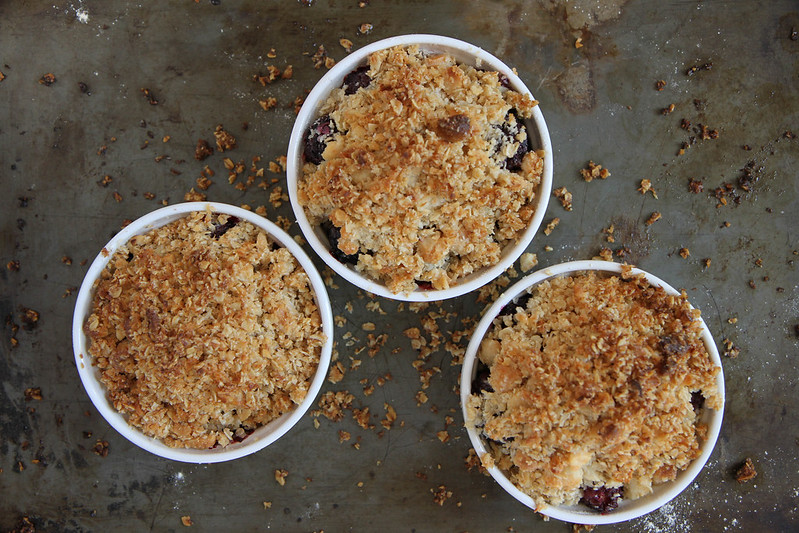 Blackberry Coconut Macadamia Crumble