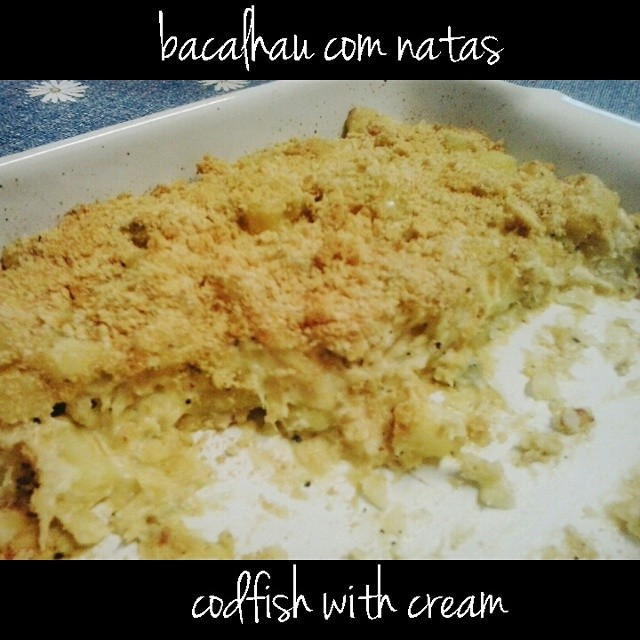Not much to look at, but that was the best bacalhau com natas I've ever made. #PortugueseKitchen