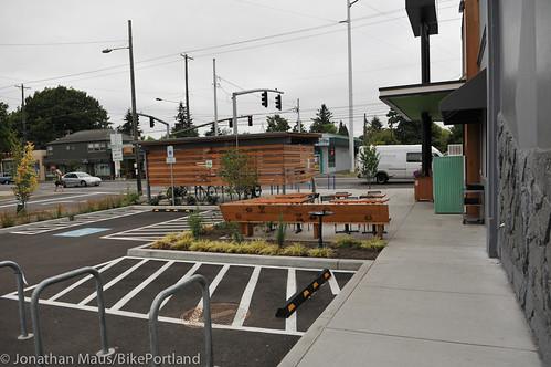 Bike parking at Green Zebra Grocery-8