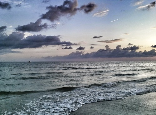 summer sky beach clouds colorful waves horizon shore saintpetersburgflorida saintpetebeachflorida