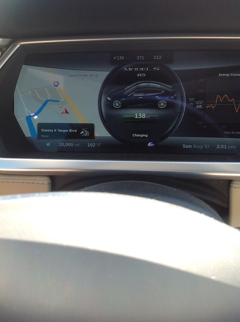 I see a blog post in my future for this... 18000 miles on our .@TeslaMotors Model S enroute to Vegas