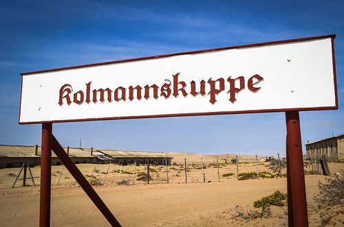 Kolmanskop ghost mining town - Entrance