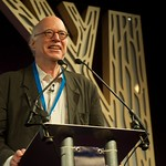 Richard Sennett on stage during the Principle of Religion event |