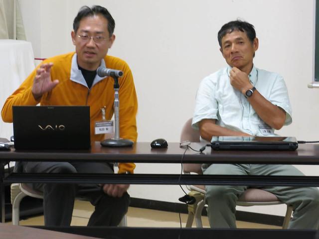 今回の講師は松田先生(左)と上野先生(右).