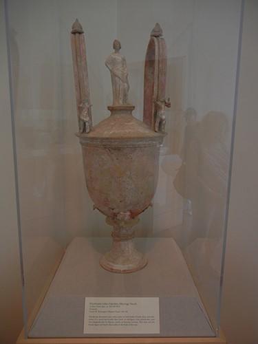DSCN1366 _ Polychrome Lebes Gamikos (Marriage Vessel), Sicilian (Centuripe), c 300-289 BCE, Blanton Museum