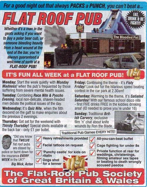 Viz Comic It S Fun All Week At A Flat Roof Pub