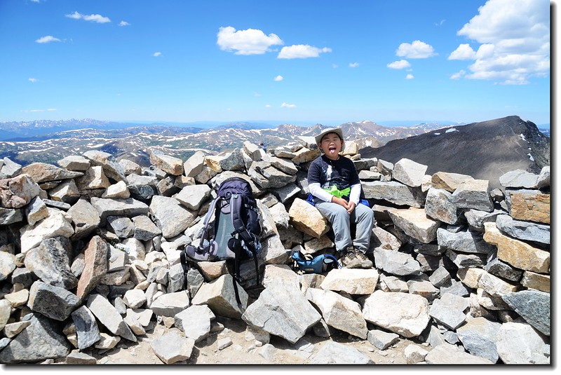 Jacob on the summit of Grays Peak 1