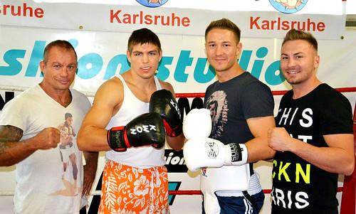 Hansi Brenner, Vincent Feigenbutz, Anatoli Muratov und Sergej Lehrke