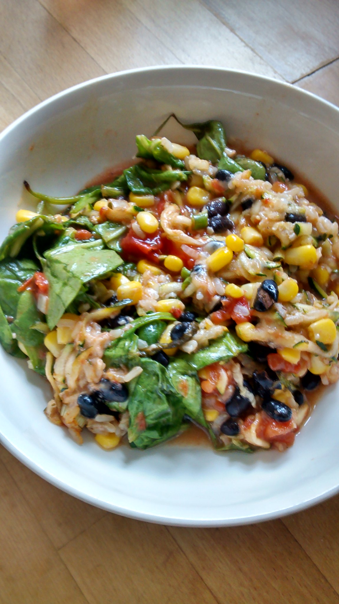 Black bean casserole in bowl
