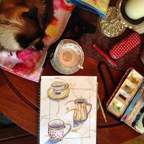 from my sketchbook ~ coffee cups