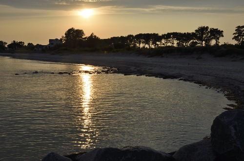 es kehrt Ruhe ein am Strand