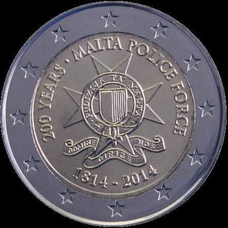 2 Euro Malta 2014, Policajný zbor