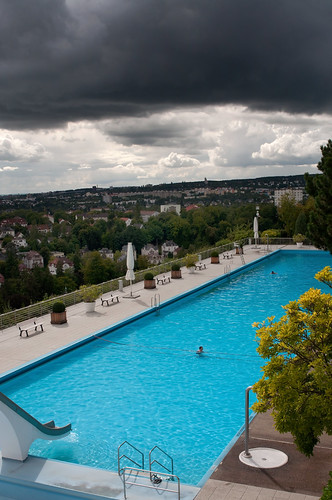 Wiesbaden (Germany): Lonely swimmers in August