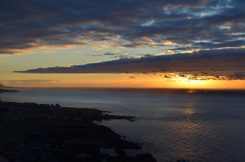 Sunset on the north coast, Tenerife